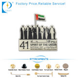 Venta directa de fábrica placa de metal pin Bandera personalizada