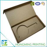 Rectángulo de seda de Brown Kraft de la impresión que empaqueta para la vela