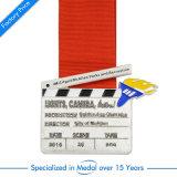 Turnier-antike Goldmedaillen-Fabrik-Darstellungs-Kasten-Förderungen rund