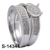 Ring van het Paar van de Juwelen van de fabriek de In het groot Zilveren