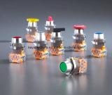 キー溝の押しボタンスイッチ非常停止が付いているまたは照らされるか、または保護される