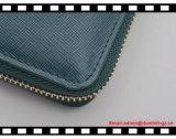 Wallet del cuoio RFID della prima classe della signora superiore con la corda della frizione