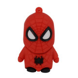 O Spider-Man dos presentes 3D personalizou movimentações do flash do USB do PVC