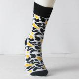 Носки отрезока таможни с цветастыми и счастливыми носками платья носок