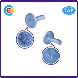 탄소 강철 4.8/8.8/10.9 Galvanized/M6에 의하여 주문을 받아서 만들어지는 플라스틱 잠그개 둥글거나 편평한 맨 위 나사