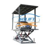 Véhicule de type ciseaux de voiture à double étage de l'équipement de garage