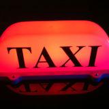 Lâmpada roxa da parte superior do telhado do carro do aluguel do táxi de 5 cores