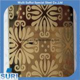 304 adornado y coloreado/aguafuerte/hoja de acero inoxidable que graba