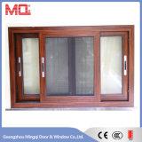 Fenêtre coulissante en bois en aluminium de couleur
