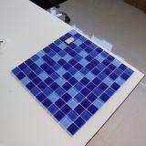 Голубая плитка мозаики стекла картины волны для здания плавательного бассеина