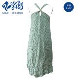 [ف-نك] خضراء مثير طويلة [بك-إكسبوسنغ] نساء الزلّة ثوب