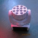 Bewegliche des Kopf-LED Vierradantriebwagen-Farbe Stadiums-Licht-Energien-des Träger-12X10W