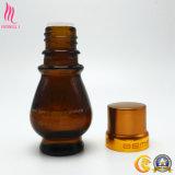 30g 50g bernsteinfarbiges kosmetisches Glasglas mit Splitter-Kappen für wesentliche Verpackung