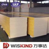 Aislado de retención de calor panel sándwich de poliuretano para la construcción y fabricación de acero