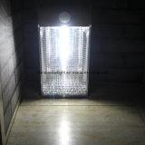 옥외 은 회색 PIR 센서 태양 벽 램프 태양 통로 LED 빛
