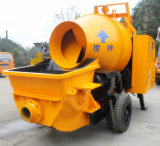 Pompe concrète de remorque hydraulique mobile avec le mélangeur de tambour