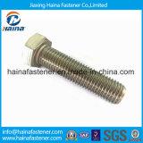 Boulons Hex d'acier inoxydable/acier du carbone et noix Hex galvanisée galvanisée Nuts et boulon d'IMMERSION chaude (DIN933 ET DIN934)