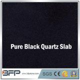 Laje artificial preta pura por atacado de quartzo para a decoração interna