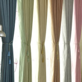 Cortina de indicador contínua do escurecimento do algodão do Slub da alta qualidade (21W0009)