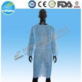 Pp a gettare/PE/abito chirurgico non tessuto di PP+PE/SMS/CBE