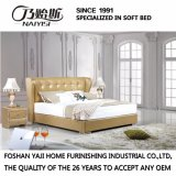 Кровать кожи мебели спальни конструкции двойной кровати способа самомоднейшая (FB3071)
