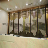 2017 New Design Modern 304 Stainless Steel Tube Screen Hotel Hall Wall Partition
