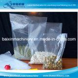 Saco de plástico poli superior aberto liso que faz a máquina para sacos de varejo industriais