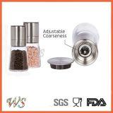 Ws-Pgs011 Roestvrij staal & Glas - de Regelbare HandReeks van de Molen van /Pepper van de Molen van de Peper Vastgestelde