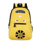 Schoolbag bonito das crianças impermeáveis de nylon da trouxa do ombro do dobro dos desenhos animados do jardim de infância