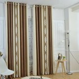 2017 Hot Design Chenille Vertical Stripes Blackout Curtain