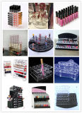 Organisateur tournant acrylique de la meilleure qualité de rotation de renivellement de support de Lipgloss de tour de rouge à lievres