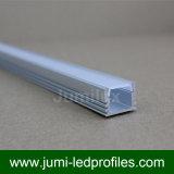Profilo di alluminio sottile piano con il coperchio trasparente o glassato