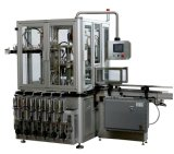 Máquina de etiquetado linear automática de la máquina de rellenar del petróleo de la miel de la goma del pistón