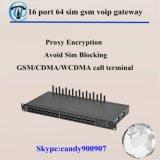 GoIP 16/64 vermijdt SIM Blokkerende Gateway BulkSMS 16 MultiGSM SIM van de Haven Gateway