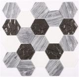 Мозаика формы шестиугольника для домашнего украшения
