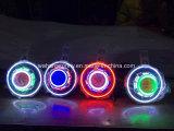 """최고 밝은 빨간 청록색 백색 7"""" 지프 논쟁자 Cj Lj Tj Jk를 위한 달무리 반지를 가진 LED 헤드라이트"""