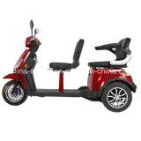 Aprobado por la CE de tres ruedas Scooter eléctrico con dos asientos