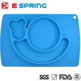 Plaque de table en forme d'escargot Plaque colorée en silicone pour l'alimentation du bébé