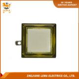Jaune en plastique 33.4mm carré électrique Pbs-008 de commutateur de bouton poussoir