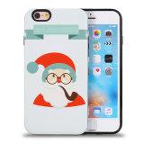 iPhone7 7plusのための携帯電話の裏表紙のクリスマスの人TPU+PCの例