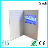 2.4, 2.8, 4.3, 5, 7, поздравительная открытка экрана 10.1inch TFT LCD видео-, дело, приглашение, видео- карточка