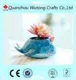 Regalo all'ingrosso della decorazione della casa del POT di fiore di disegno dei pesci dell'oceano della resina dei nuovi prodotti