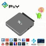 El rectángulo más nuevo Tx7 Amlogic S905X 2GB /32GB del androide 6.0 TV de P&Y con Kodi 16.0 cargado completamente