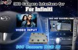 360 Panorama Câmera Câmera Câmera Traseira Interface para 2015-2016 Infiniti Q50/Q50L/T60 com guia de estacionamento