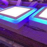 El panel montado superficial de la luz del panel del color azul del borde 2 LED