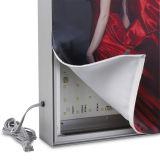 Matéria têxtil de alumínio do frame que anuncia a caixa leve do diodo emissor de luz