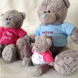 Estar con Amor Gris Calidad Patches Soft Toy Teddy Bear