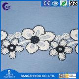 Fiore multicolore di nuova del ricamo vendita calda di seta solubile in acqua in bianco e nero vuota del merletto