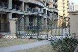 Haohanの良質の外部の機密保護の装飾的な錬鉄の塀のゲート3