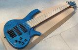Гитара естественного деревянного цвета нот Hanhi/5 шнуров электрическая басовая